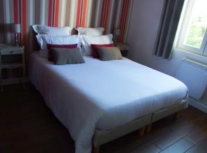 chambre rayures orange1