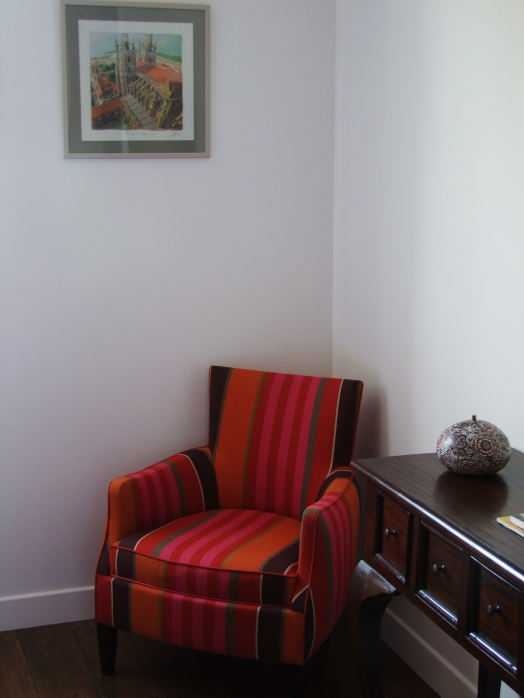 chambre rayures orange